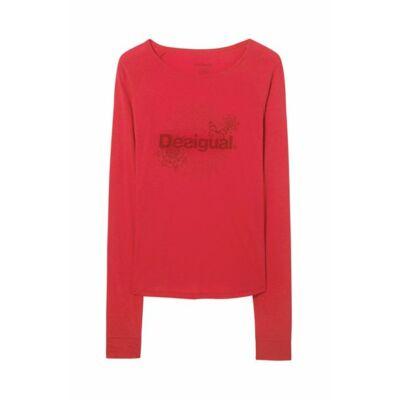 Desigual  női piros T-shirt Essential M