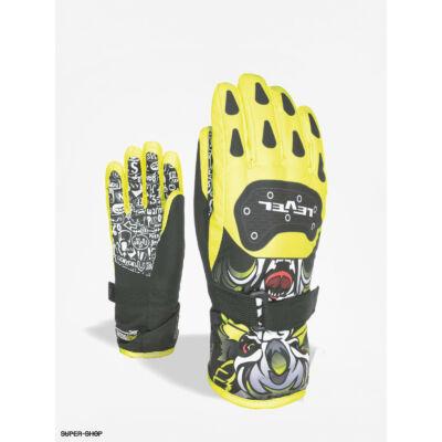 Level glove junior yellow