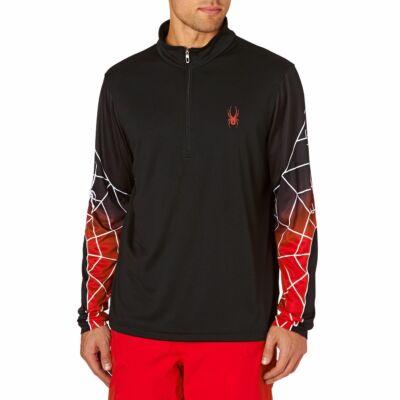 Spyder Webstrong Dry Web T-neck férfi M Blk/blk/red