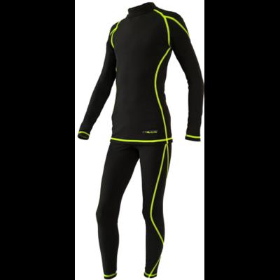 Ozone férfi aláöltöző felső fekete-lime XL